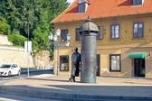 Street scene of Zagreb Croatia — Stock Photo