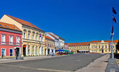 Town of Koprivnica street and architecture — Stock Photo