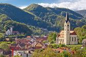 Town of Krapina panoramic view — Stock Photo