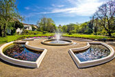 Fountain and park in Zagreb — Stock Photo