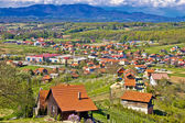 Green village of Zagorje region — Stockfoto