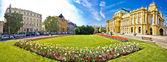 Zagreb théâtre carré panoramique — Photo