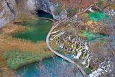 Canyon de parque nacional plitvice lakes — Foto Stock