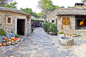 Dalmatian old  stone village street — Stock Photo