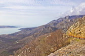 Velebit mountain cliffs and road — Stock Photo