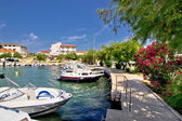 Harbor of adriatic village Petrcane — Foto Stock