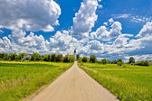 Road to countryside village of Bisag — Stock Photo
