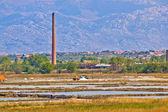 Salt fields of Nin view — Stock Photo