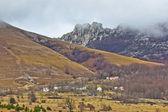Velebit mountain village in fog — Stock Photo