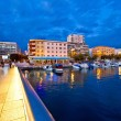 Blue hour Zadar waterfront view — Stockfoto