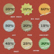 Vector de stock : 9 Vintage sale labels