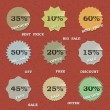 Stockvektor : 9 Vintage sale labels