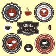 Coffee labels for design — Stock Vector