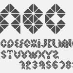 Original mosaic Alphabet. Vector eps10 — Stock Vector