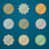 Collection of various round stickers — Stock Vector