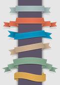 Vector set of retro ribbons — Stock Vector