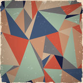 Geometric grunge background in retro colors — Stock Vector