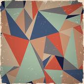 レトロな色で幾何学的なグランジ背景 — ストックベクタ