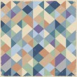 Geometric retro background in pastel colors — Stock vektor