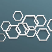 3d geometric background with hexagons — Stock Vector