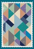 Carimbo de postagem vector com padrão retro — Vetorial Stock