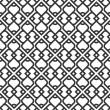 Black and white islamic seamless pattern — Stock Vector