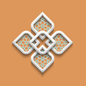 3d elegant pattern in arabic style — Stock Vector
