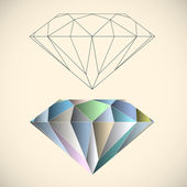 Diamant — Stockvector