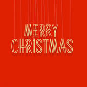 Merry Christmas lettering — Vector de stock