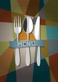矢量的餐厅卡菜单设计 — 图库矢量图片