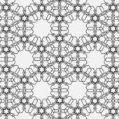 Monochromatic pattern on Islamic motif — Stock Vector
