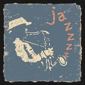 Ilustracja wektorowa retro z saksofonista — Wektor stockowy