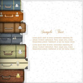 Vector background with suitcases — Stock Vector