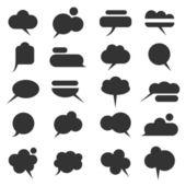 Vector set of various bubbles for speech — Stock Vector