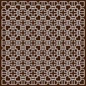 İslami tarzında koyu kahverengi zemin üzerine beyaz desen — Stok Vektör