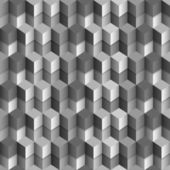 3d monochrome cubes background — Stock Vector