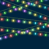 Vector Christmas lights — Vector de stock