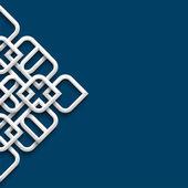3d-witte sieraad in arabische stijl — Stockvector