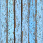 Light-blue old wooden fence — Stock Vector
