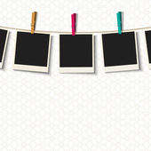 Photo Frames with clothespins — Stockvector