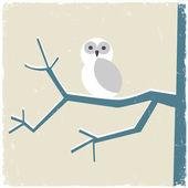 Snowy white owl — Stock Vector