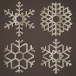Snowflakes of old paper — Stock Vector