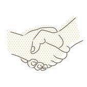Vector drawing of handshake — Stock Vector