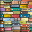 Vector background of colored suitcases - Imagen vectorial