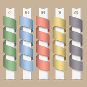 Modern numbered colored ribbons-banners — Stock Vector