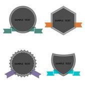 čtyři štítky v retro stylu — Stock vektor