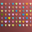 Hanging  colorful hearts — Stockvectorbeeld