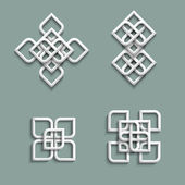 3d ornaments in arabic style — Stock Vector