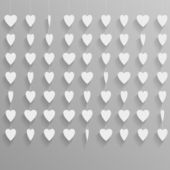 Hanging paper hearts — Stock Vector