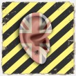 Ear. Punk vector art — Vettoriali Stock